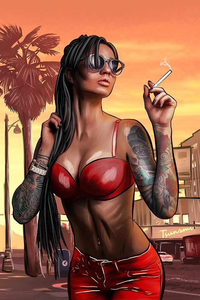 Rockstar Games Social Club - Rockstar Fan Art: Rockford Hills Diorama, Merryweather Security App Inspiration, Mona Sax Nails, Red Dead CYA Cover Design and More