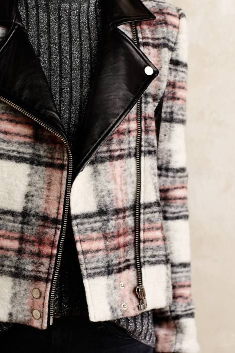 Plaid Moto Jacket by Paige | Pinned by topista.com