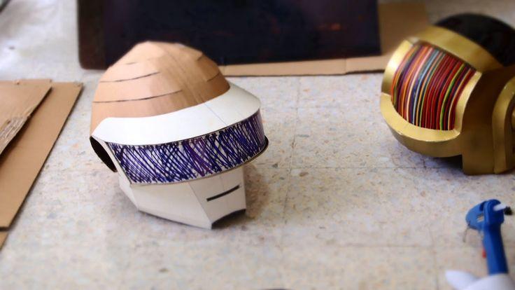 #70: Thomas (Daft Punk) Helmet DIY Part 1 - Cardboard (free template)