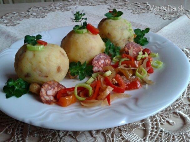 Zemiakovo-škvarkové guľky (fotorecept) - Recept