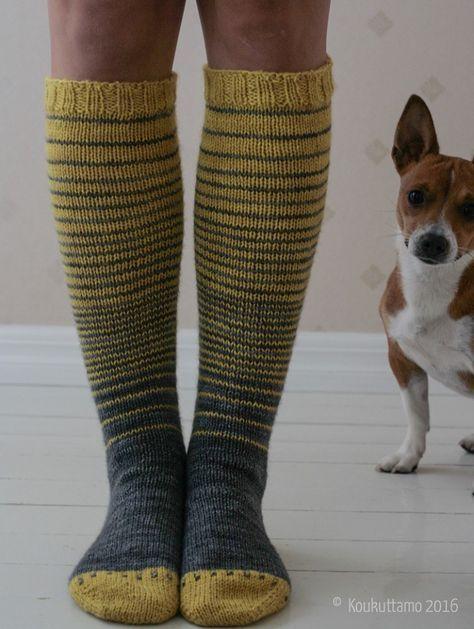 Bumblebee socks   Yarn Delight (Ihanuus) by Koukuttamo   Koukuttamo