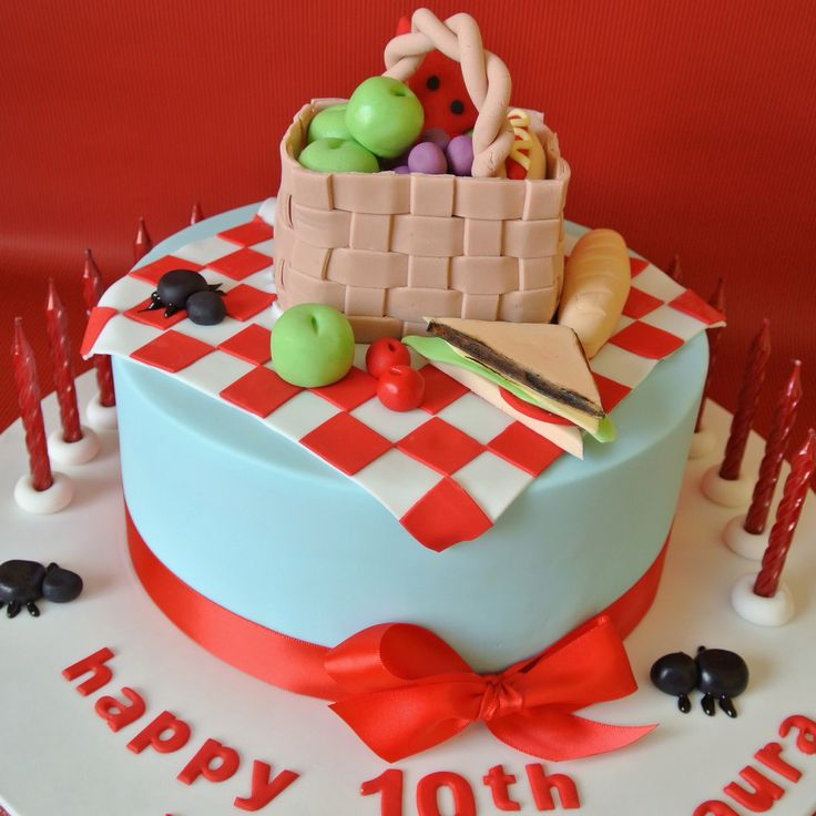 Picnic Themed Party Cake Imagine Cakes Gallery