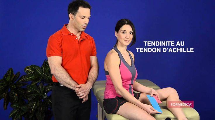 Vous souffrez d'une tendinite au tendon d'Achille ? Découvrez comment appliquer la bande élastique kinésio FormediKA-Tape. Ce taping proprioceptif vous perme...