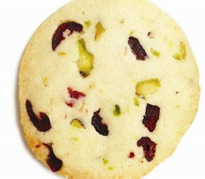Pistachio and cranberry icebox cookies