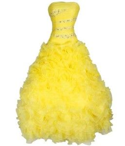 Yellow Bell Prom Dresses 13