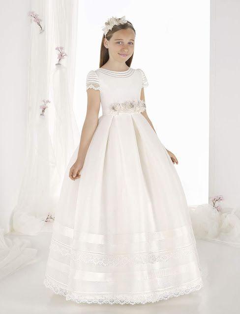 villa fÁbula moda infantil: vestidos de primera comuniÓn carmy 2019