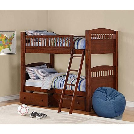 dorel home furnishings bunk bed pine 1
