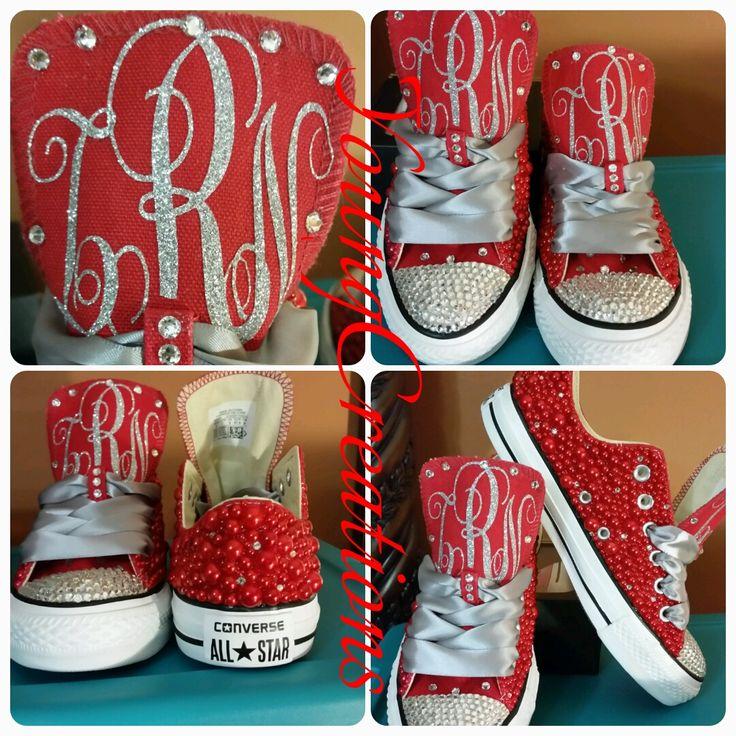 Custom Bling Pearl Converse