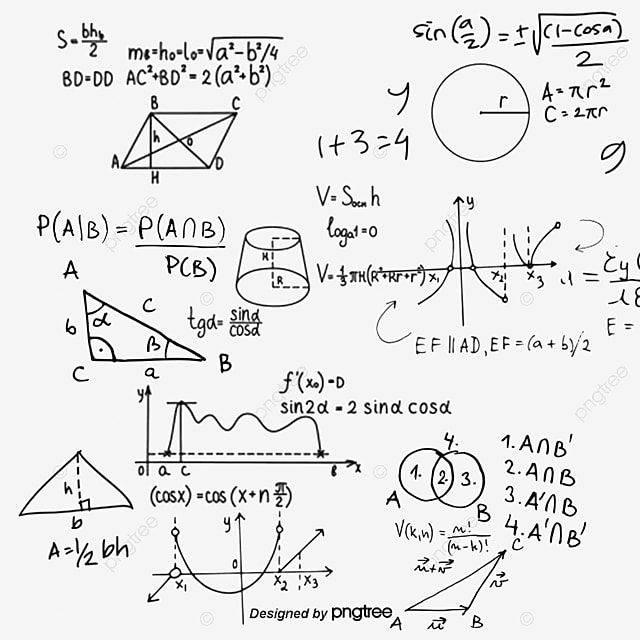 Mathematical Functions Floating Image Png And Psd In 2021 Math Formulas Equations Notes How To Draw Hands
