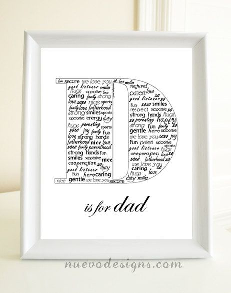 D is for Dad Father's Day gift