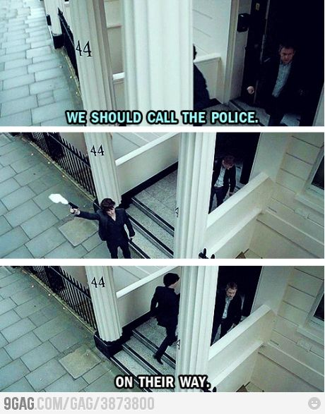 Calling the cops - Sherlock style @Jennifer McCumber