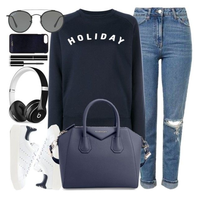 """Graz"" by monmondefou ❤ liked on Polyvore featuring Beats by Dr. Dre, Topshop, Holiday, adidas Originals, Givenchy, Ray-Ban, Vianel, Chanel, black and Blue"