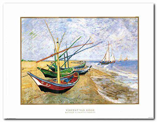 Vincent Van Gogh Fishing Boats on the Beach at Saintes-Ma...…