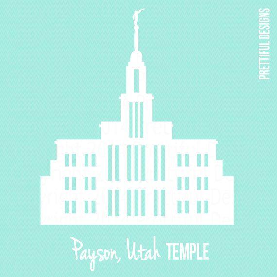 Payson Temple Utah LDS Mormon Clip Art png by ILoveToSeeTheTemple