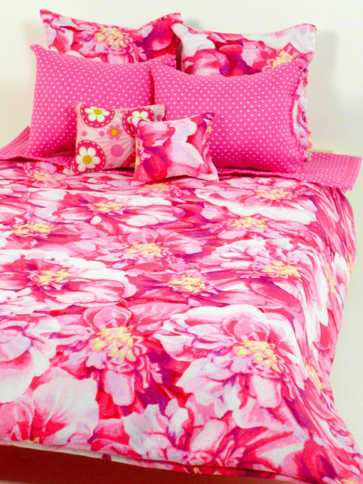 Doll Bedding Set Only Pink Bed Sheet Pillow Comforter