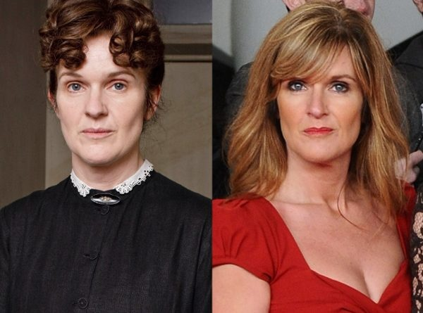 Siobhan Finneran, Downton Abbey: What a difference makeup makes on a person, eh?