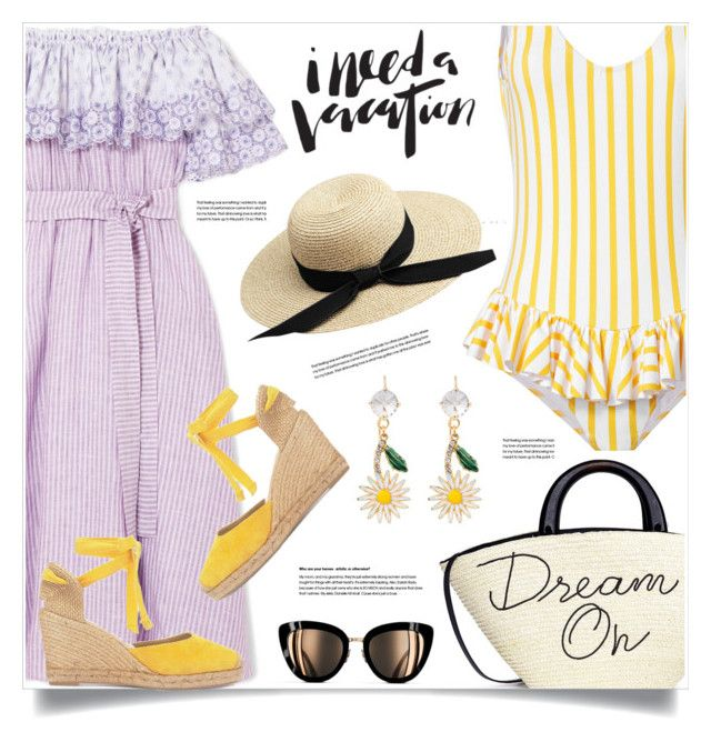 """""""Vacation outfit"""" by anne-irene ❤ liked on Polyvore featuring Gül Hürgel, Eugenia Kim, Caroline Constas, Miu Miu and Chanel"""