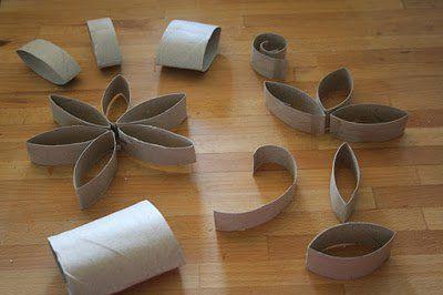 DIY Pretty svícen Použití toaletní papír Roll