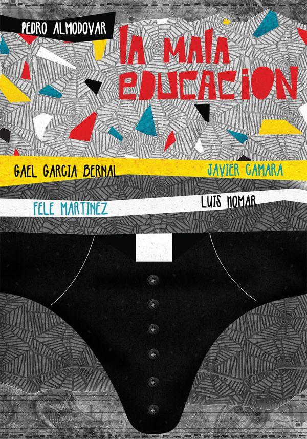 La mala educación, Pedro Almodovar - Movie posters by Marija Marković, via Behance