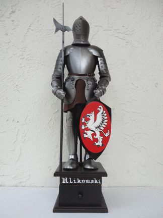Personalized Irish Coat of Arms Knight with Armor