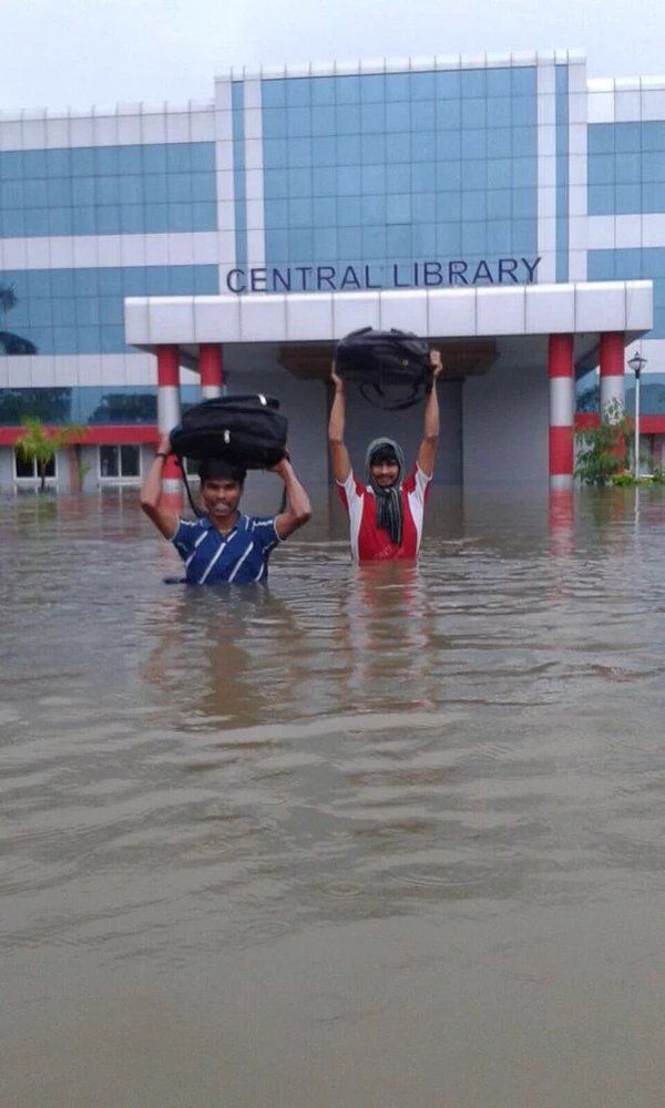 Chennai reeling under monsoon floods.