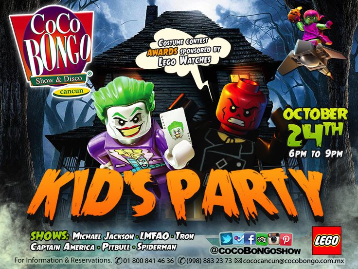 Save the date for our Kid's Party at #Cancun: october 24th! We will have costume contest and prizes by @legorelojes!  +info: http://on.fb.me/1uuvxK8