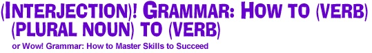 Noun, verb, adverb, pronoun/chart by scholastic association, gives examples and definitions of structured parts of sentences.