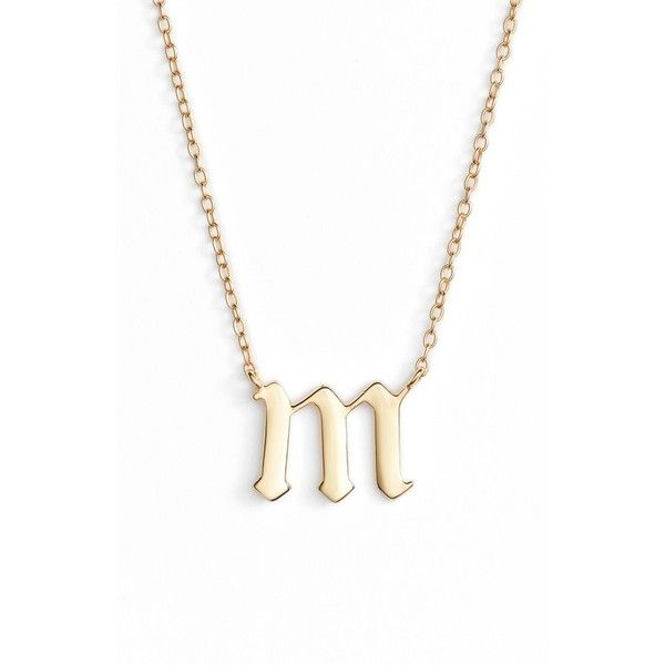 Women's Argento Vivo Gothic Initial Pendant Necklace ($48) ❤ liked on Polyvore featuring jewelry, necklaces, initial jewelry, pendant necklaces, letter pendant necklace, initial pendant necklace and gothic jewellery