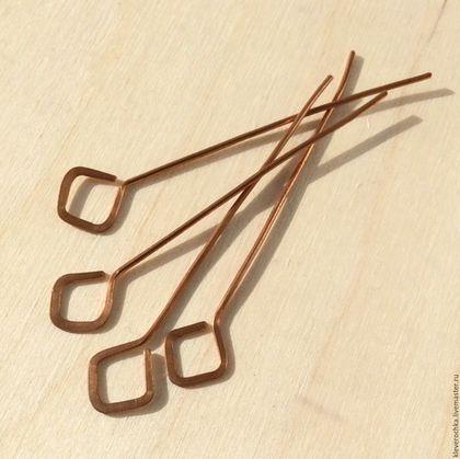 Для украшений ручной работы. Ярмарка Мастеров - ручная работа. Купить Пины медь  50 мм ромб фигурные ручная работа  для украшений. Handmade.