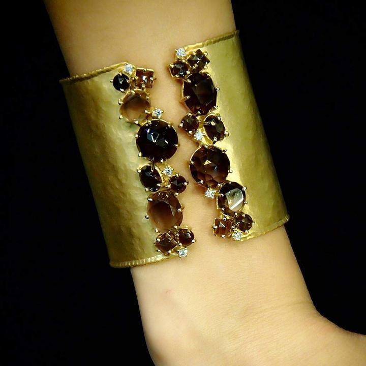 """Marika """"Negev"""" Smoky Topaz Cuff Bracelet"""