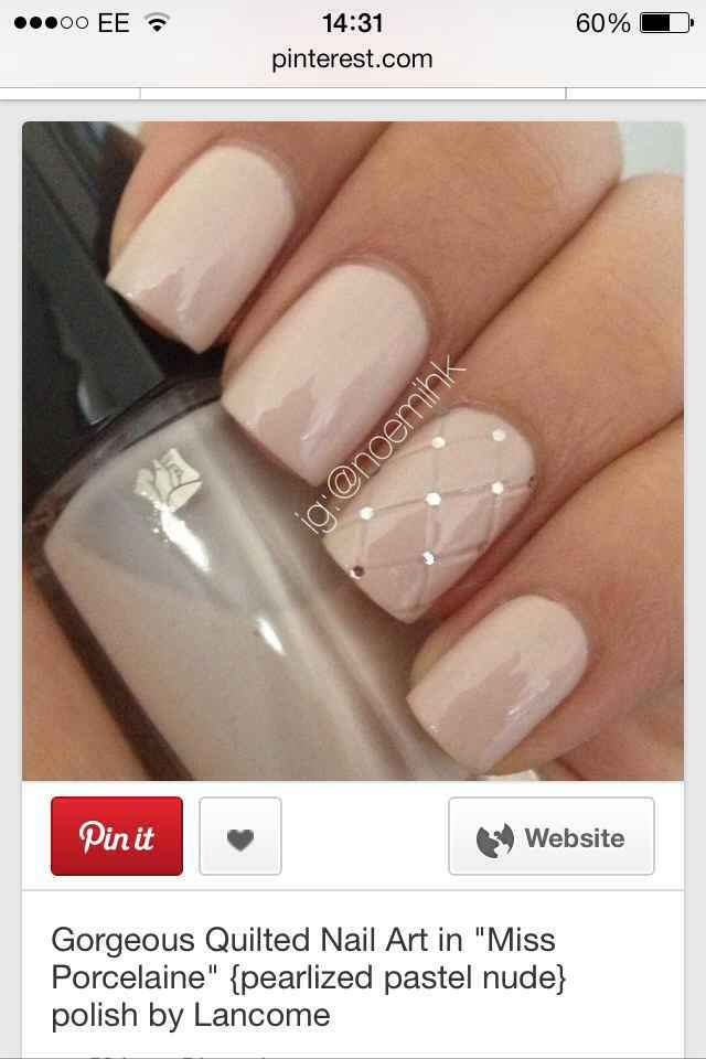 Pearlized Pastel Nude Polish (Quilted) http://www.salongeek.com/nail-geek/252590-can-done-shellac.html