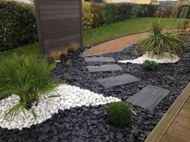 Resultat De Recherche D Images Pour Petit Cailloux Blanc Jardin Amenagement Jardin Idee Deco Jardin Deco Jardin