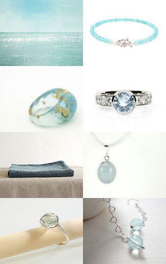 aquamarine by Gaia Salatino Ghirardi on Etsy--Pinned with TreasuryPin.com