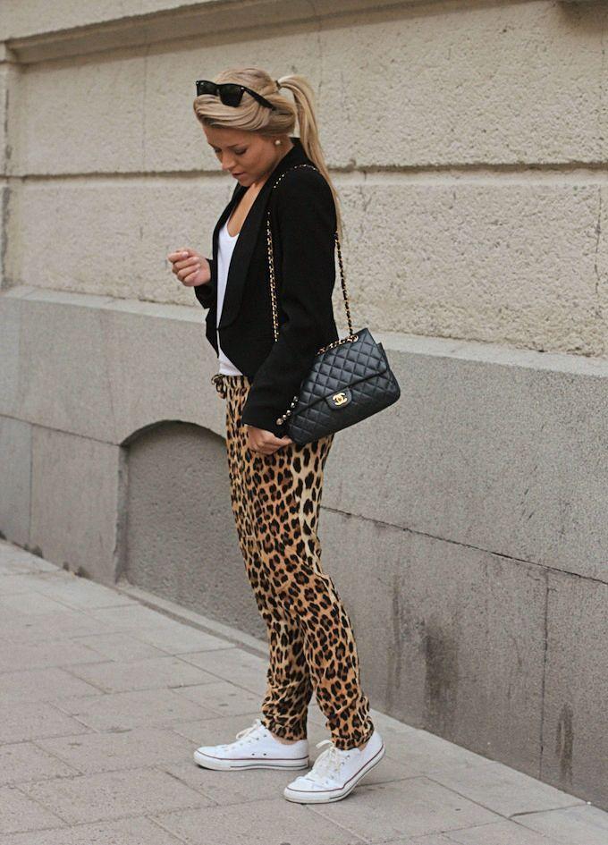 Blogger style inspiration: leopard pants, converse & ...