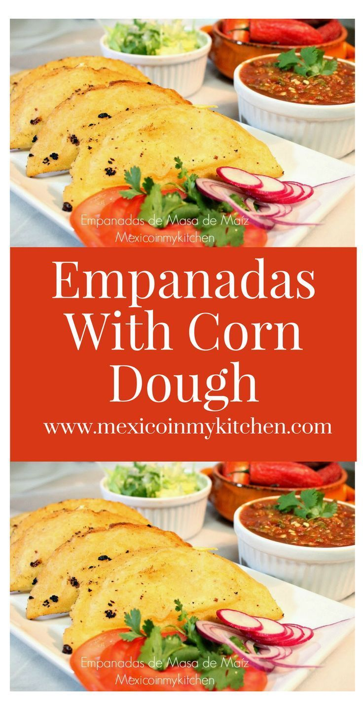 """Corn Empanadas"" or ""Quesadillas"" are a delicious snack which can be eaten any day. They can be filled with a variety of fillings from farmer fresh cheese, squash flowers, potatoes, ground meat, shrimp, chicken, etc.#mexican #food #antojitos #homecook"
