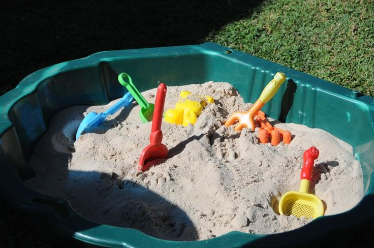 Fish theme party - A sand pit provided lots of fun for the smaller kids