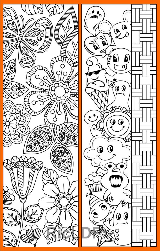 coloring bookmarks with abstract patterns #abstract #bookmarks #irregular