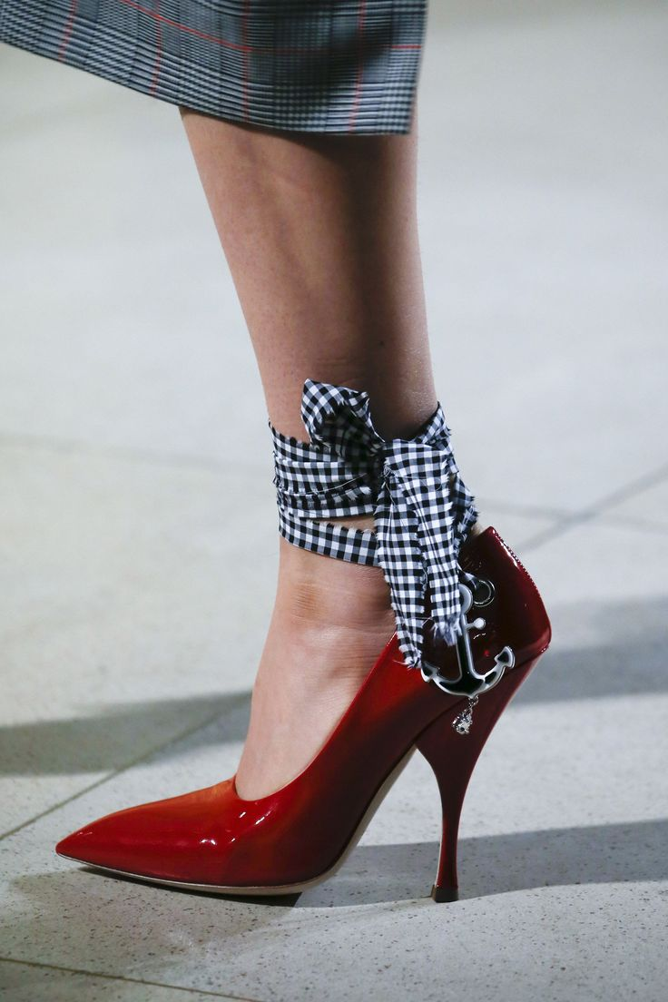 A saucy gingham anklet from Miu Miu.