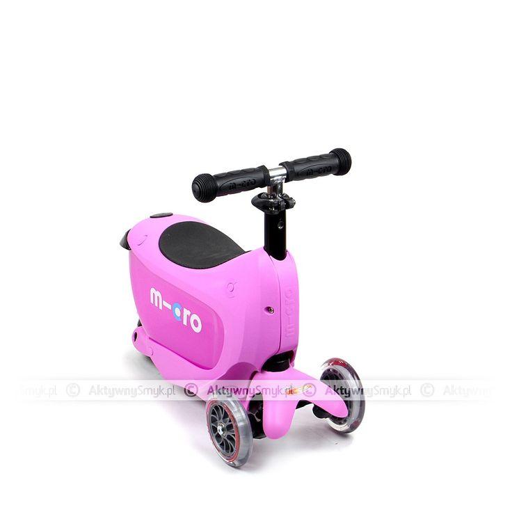 Różowa Micro Mini2Go - jeździk i hulajnoga