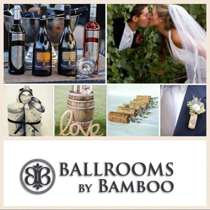 We offer you the best selection of wines, so that you and your guests can enjoy the wedding to the fullest! Ballrooms by Bamboo