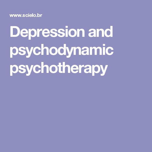 Depression and psychodynamic psychotherapy