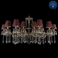 Люстра Большая Bohemia Ivele Crystal 1703/18/320+210/A/GB/SH27 exclusive