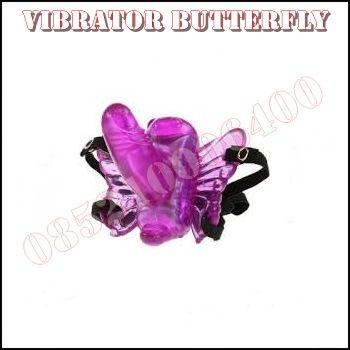 Vibrator Butterfly Strap On merupakan salah satu alat bantu seks untuk wanita seperti dildo yang mempunyai ikat pinggang dan berbentuk seperti kupu-kupu.