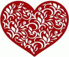 silhouette heart paper cut - Pesquisa do Google