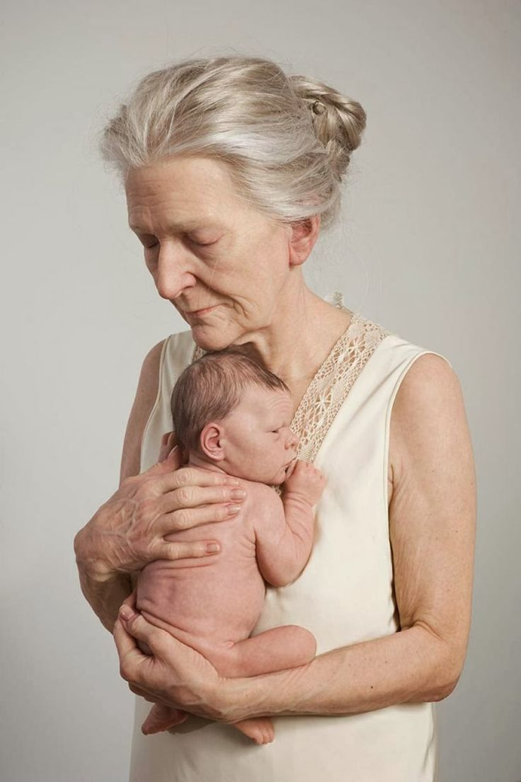 Ron Mueck - I love the evident contrast in this sculpture, as you can see the growth of life from a baby to elderly.