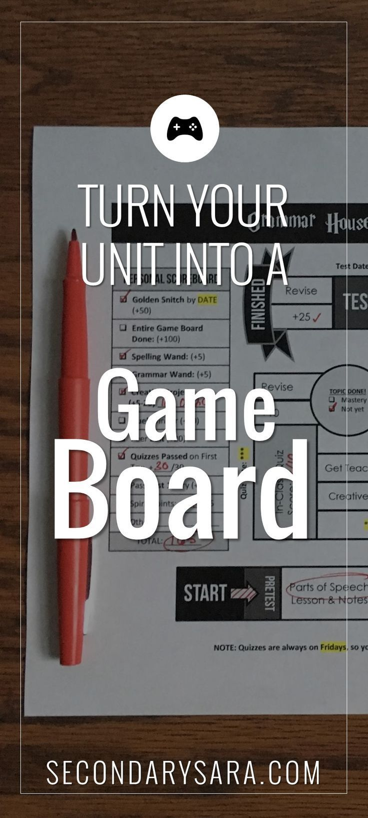 How to turn a traditional unit of learning into a fun game board format that is …