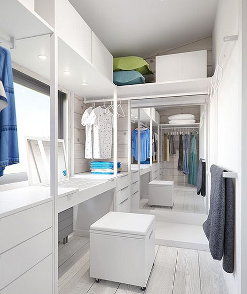 Baños Residenciales Modernos:Dormitorio principal con vestidor y cuarto de baño: zona de tocador