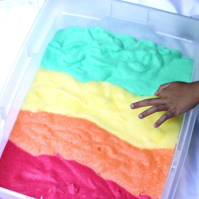 Make Jell-O soap foam with the kids for a super engaging sensory activity