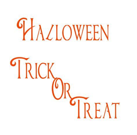 Halloween Trick Or Treat text Digital download by MySVGHUT on Etsy