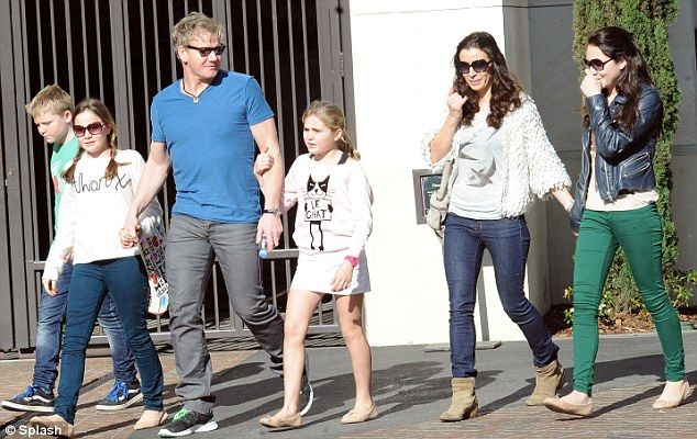 Chef Gordon Ramsey and his family 2011
